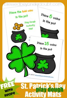 St Patricks Day activities for kids - St Patricks Place Mats, recommended by HowToHomeschoolMyChild.com