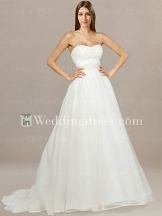 Strapless Organza Wedding Gown with Belt BC179