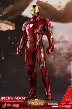 Marvel Avengers Infinity War Iron Man from Hot Toys Iron Man Suit, Iron Man Armor, Iron Man 3, Hot Toys Iron Man, Iron Man Action Figures, Super Anime, Iron Man Wallpaper, Marvel Comic Character, Sideshow Collectibles