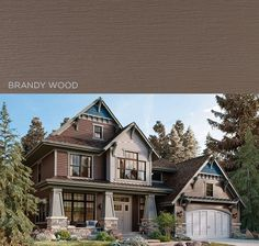 Like a tree-lined path, Brandy Wood brings the warmth and allure of Mother Nature to light while harmonizing perfectly with the beautiful handiwork of any country or prairie style home. | Get a FREE quote on Mastic vinyl #siding today! www.carefreehomescompany.com