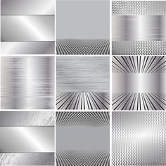 Various metal style background set vector 04 - Vector Background free download