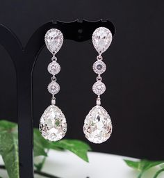 Swarovski Crystal Tear drops. Gorgeous