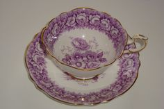 Paragon Rose Bouquet Mauve Cup and Saucer Duet | eBay