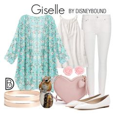 """Giselle"" by leslieakay ❤ liked on Polyvore featuring Polo Ralph Lauren, Jimmy Choo, Lana Jewelry, disney, disneybound and disneycharacter"