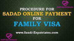 SADAD ONLINE PAYMENT FOR FAMILY VISA