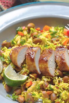 Get inspired & try this delicious and low in saturated fat Meat Free Jerk Chicken Fillet recipe with Quorn Fillets. Enjoy meat free alternatives with Quorn. Quorn Recipes, Rice Recipes, Veggie Recipes, Vegetarian Recipes, Healthy Recipes, Quorn Meals, Veggie Keto, Veggie Dinners, Vegetarian Lunch