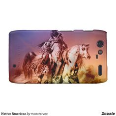 Native American Droid RAZR Case #NativeAmerican #Indian #Horse #Historical #Art #Mobile #Phone #Cover #Case #Droid