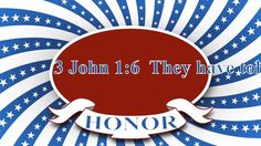 Today's verses come from Isaiah 29:13 and 3 John 1:6 NASB.