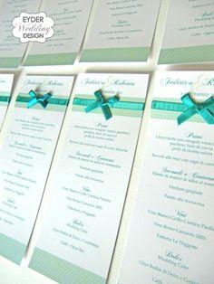 EYDER Wedding DESIGN: Le collezioni Eyderweddingdesign: matrimonio in tema Tiffany