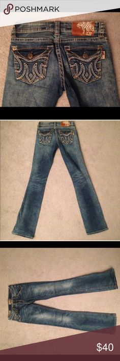 MEK DNM Buckle Jeans MEK DNM USA A Well Traveled Denim Co. designed exclusively for Buckle. Lucknow Slim Boot. Waist 24. Length 34. Worn look. Great condition. MEK Jeans Boot Cut