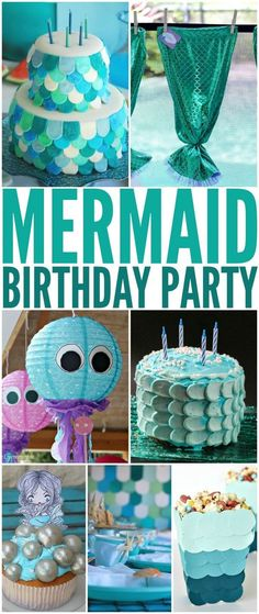 How to Throw the Ultimate Mermaid Birthday Party to please any birthday girl. Little girls love mermaids, and so a Mermaid themed birthday party is a natural choice. Check out these 25 ideas that will help you throw an amazing Mermaid themed party for gir Mermaid Theme Birthday, Little Mermaid Birthday, Girl Birthday Themes, 10th Birthday Parties, 5th Birthday, Cake Birthday, Mermaid Themed Party, 3rd Birthday Party For Girls, Birthday Design