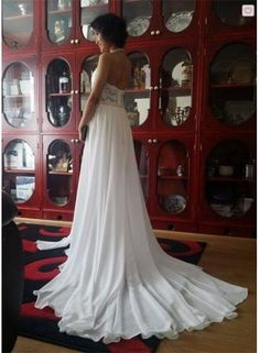Newest High Neck Elegant Prom dress 2016 Long beadings Chiffon Evening gown With Lace Appliques - Products Wedding Dress Chiffon, Chiffon Evening Dresses, Evening Gowns, Lace Dress, Lace Chiffon, Wedding Dresses, Prom Dresses 2016, Elegant Prom Dresses, Custom Dresses