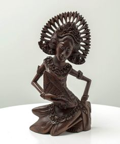 Balinese Janger Dancer - Handcrafted masterpiece wood sculpture from Bali. Spiritual decoration for unique places... #art #bali #balinese #handcrafted #decoration #decorativeart #dekor #elyapımı #woodart #zanaat