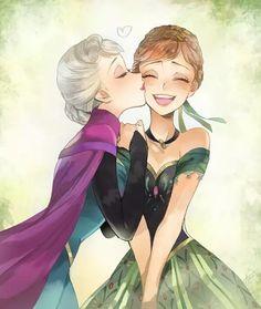 Disney Frozen - Elsa and Anna Frozen Disney, Princesa Disney Frozen, Frozen Movie, Disney Princess Drawings, Disney Princess Art, Disney Drawings, Princess Anna, Princess Aurora, Princess Bubblegum