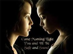 Rue and Katniss!!!!!!! :')