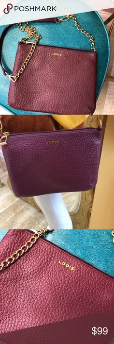 LODIS CROSSBODY BAG Brand new without tags, eggplant colored Lodis Bags Crossbody Bags