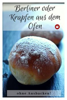 Donuts from the oven-Krapfen aus dem Backofen Without frying the oven recipes - Easy Smoothie Recipes, Easy Smoothies, Cinnamon Cream Cheese Frosting, Cinnamon Cream Cheeses, Pavlova, Donuts, Beignets, Cake Recipes, Snack Recipes