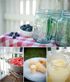 watermelon, lemonade, picnic