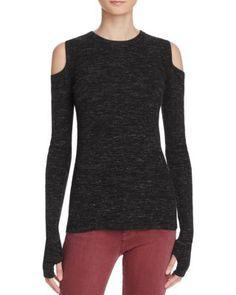 Current/Elliott The Melange Cold Shoulder Sweater | Bloomingdale's