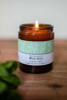 Combining notes of just-crushed peppermint and spearmint leaves with a touch of silky, delicate white tea scent; ensuring this fragrance is refreshing and bright. Perfect for the kitchen and utility room. This candle is made in a beautiful Amber glass jar which will provide approx 20 hours of burn time. Potential Allergens: contains alpha-pinenes, beta-pinenes, l-limonene, linalool. Cute Candles, Best Candles, Mini Candles, Scented Candles, Candle Packaging, Candle Labels, Candle Jars, Amber Glass Jars, Essential Oil Candles