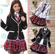 Cosplay Japanese School Girl Japan School Girl Uniform Cosplay Costume, Jacket, Blouse, Skirt And Tie Set School Uniform Fashion, School Uniform Girls, Girls Uniforms, Costumes Japan, Cosplay Costumes, Costume Dress, Visual Kei, Costume Japonais, Outfits For Teens