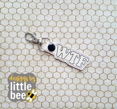 WTF funny snarky snap tab gift funny happy snap tab keychain embroidery design Instant Download! *102116