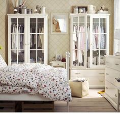 Ikea Birkeland Wardrobe w/ Glass Doors | bedroom | Pinterest ...
