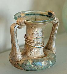 Roman glass vial, c. 1st century, CE