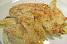 fennel au gratin with bechamel sauce Easy Microwave Recipes, Fruits And Veggies, Vegetables, Bechamel Sauce, Romanian Food, Fennel, Lasagna, Italian Recipes, Cauliflower