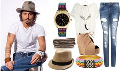 How to wear masculine chic: Inspiration Jhonny Depp  http://sheenafab.com/wp/how-to-wear-masculine-chic-trend/#
