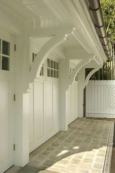 Garage And Shed Design, Pictures, Remodel, Decor and Ideas By Lasley Brahaney Architecture Shed Design, Garage Design, House Design, Design Exterior, Interior Exterior, Garage Exterior, Corbels Exterior, Craftsman Garage Door, Garage Builders