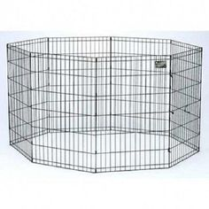 Dog and Puppy Pen 42 Inch Exercise Play Yard Dog Run Indoor Outdoor Metal Fence