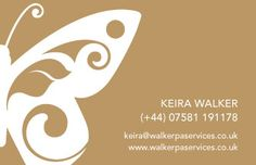 Business card back cover for Walker PA Services with new logo design