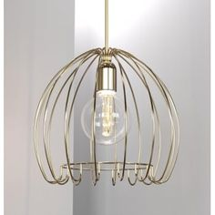 A decorative cage design ceiling pendant in a brass finish suitable for lighting in any vintage setting. This would be ideal for lighting over kitchen islands or dining room tables. It is double insulated for safe use without need of an earth wire and can be used with a dimmer switch. The pendant is height adjustable at the point of installation allowing it to be used in rooms with lower or higher ceilings.