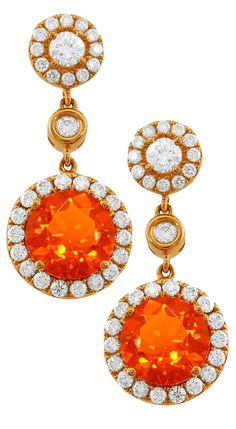 Fire opal earrings by Yael Jewelry #opalsaustralia