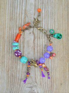 Boho Bracelet, Bohemian Style, Gypsy Jewelry, Artisan Jewelry, Turquoise Jewelry