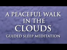 This sleep meditation is a gentle and peaceful talk down to help you fall asleep. As this guided meditation progresses you will feel very relaxed, enough to . Sleep Talking, Hypnotherapy, Guided Meditation, How To Better Yourself, How To Fall Asleep, Bliss, Stress, Peace, Clouds