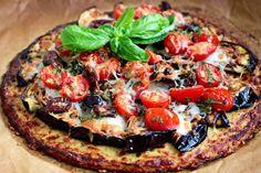 ... Pizza with Low-Carb Cauliflower Crust #Cauliflower #FallFest #Pizza