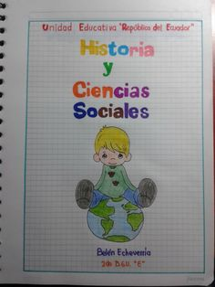 Carátula School Notebooks, Doodle Lettering, Notebook Covers, Picsart, Doodles, Bullet Journal, Clip Art, Classroom, Stamp