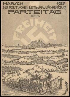 Reichsparteitag 1935 Gau Sachsen Marsch Rally Propaganda Card
