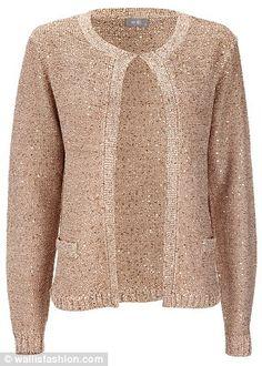 Wallis gold sequin cardigan, $61, from wallisfashion.com