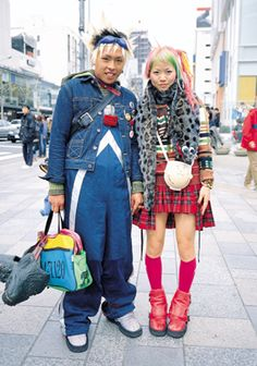 Photo taken by Shoichi Aoki, and is the cover of his Harajuku street fashion photography book, FRUiTS.