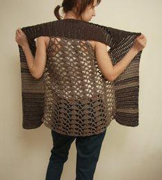 Crochet Pattern PDF - Splinter Vest - sizes XS to 2XL - crochet vest pattern instant download