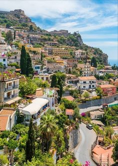 Taormina, Italy What A Wonderful World, Wonderful Places, Beautiful Places, Vacation Trips, Dream Vacations, Places To Travel, Places To Visit, Taormina Sicily, Best Of Italy