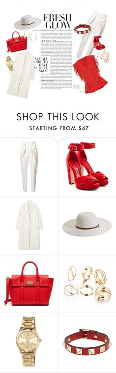 """""""Outfit #1"""" by liva-haarup ❤ liked on Polyvore featuring Delpozo, Alexander McQueen, MANGO, Melissa Odabash, Mulberry, MICHAEL Michael Kors, Valentino and Lana"""