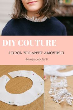 "Caravan 401946335489368288 - DIY couture : le col ""volante"" amovible Source by carolinedessevr Haute Couture Dresses, Couture Fashion, Diy Fashion, Ideias Fashion, Fashion Top, Sewing Blogs, Sewing Tutorials, Sewing Hacks, Sewing Tips"