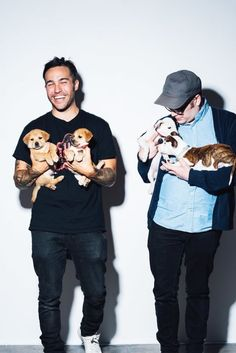 I can't decide who's cuter them or the puppies<<<Even as much as I love puppies, I'm going to have to say it's them.