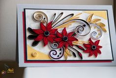 neli: Quilling cards-flowers 2013/4