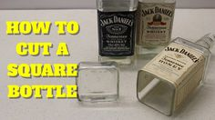 HOW TO CUT A SQUARE GLASS JD BOTTLE - YouTube