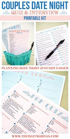 A couples quiz and interview to help me plan date night! I'm in!!!! www.TheDatingDivas.com